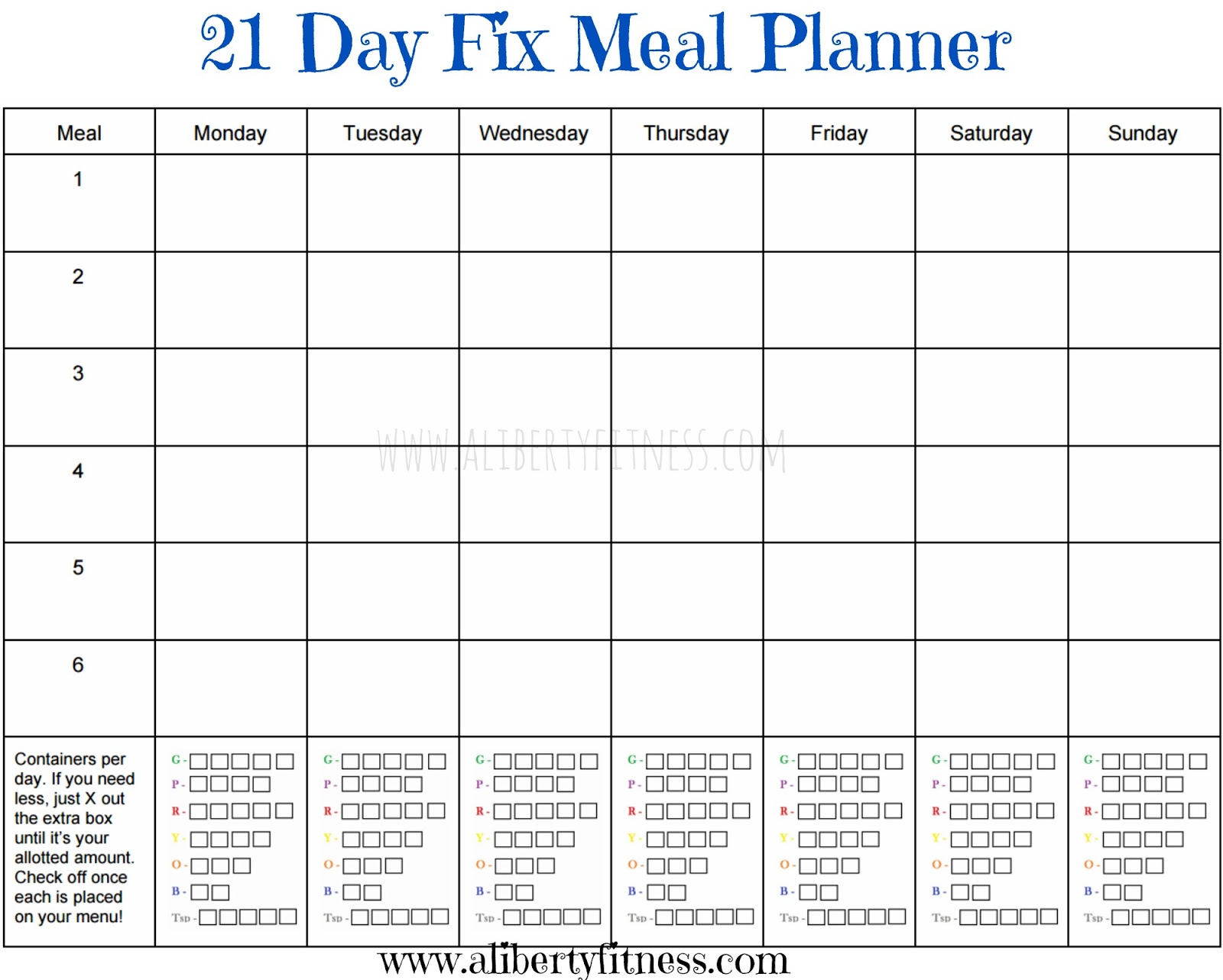 picture relating to 21 Day Fix Printable Sheets titled 21 Working day Repair service instruments Jumpstart by means of Shana