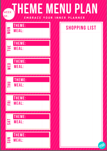 35 Theme Menu ideas to make meal planning easier!