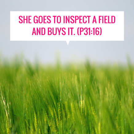 She goes to inspect a field and buys it